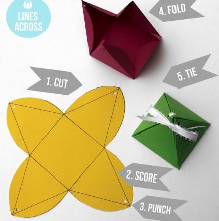 三角形礼物包装盒设计
