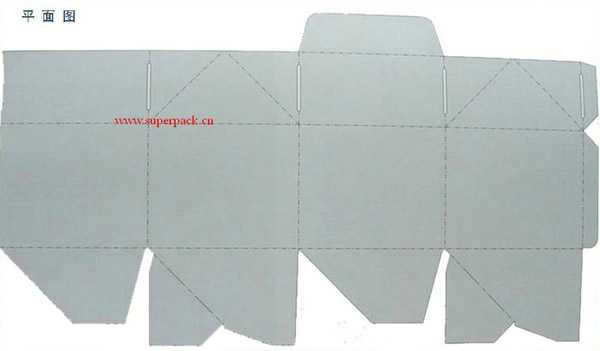 锥形纸盒结构展开图