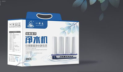 一律春净水器产品包装设计