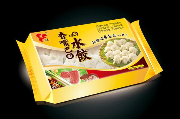 香嘴巴水饺包装 包装袋设计