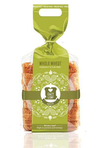 爱心面包创意包装袋设计