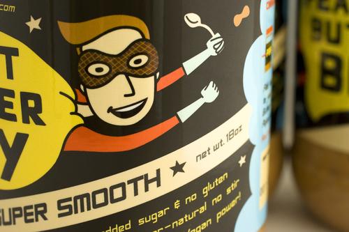 花生酱食品包装设计 可爱男孩超人版