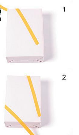 礼品盒丝带打法_打包装教程合集—基本的双斜线形丝带系法 - 包装技术_包装加工 ...