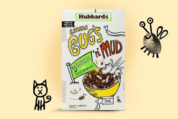 儿童五谷杂粮零食包装 创意漫画