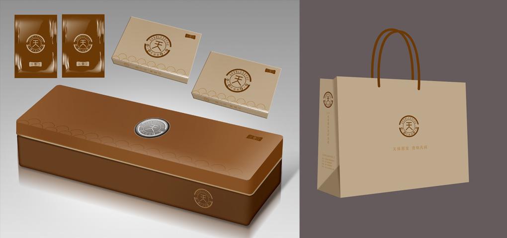 同色系礼品包装盒展示图设计图片