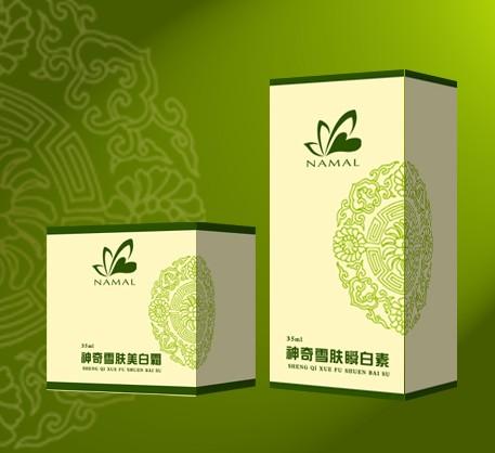 清新淡雅的化妆品纸质包装设计欣赏