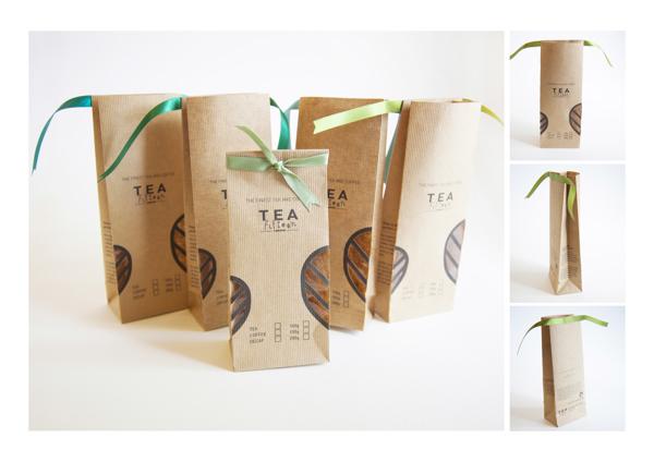 茶馆里特制的茶包装设计