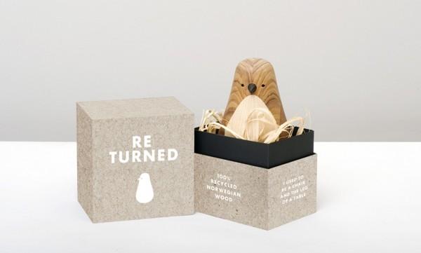 可爱木鸟玩具的包装设计