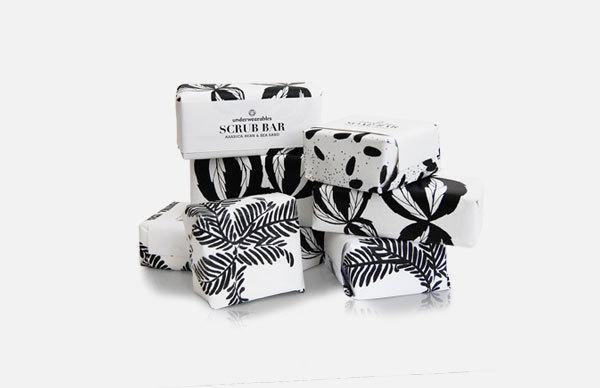 香皂的包装设计 美丽的花纹绘画 - 食品包装纸_礼品纸