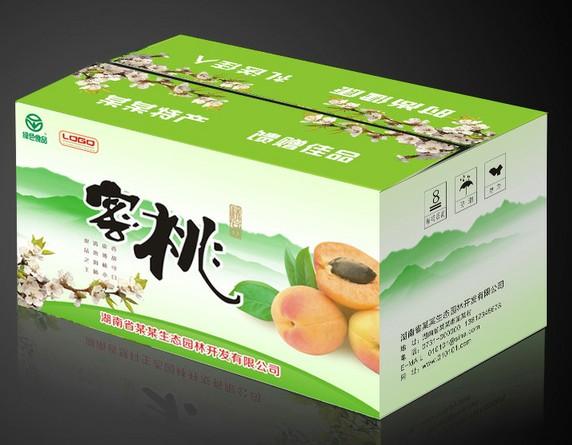 蜜桃水果包装盒设计制作欣赏