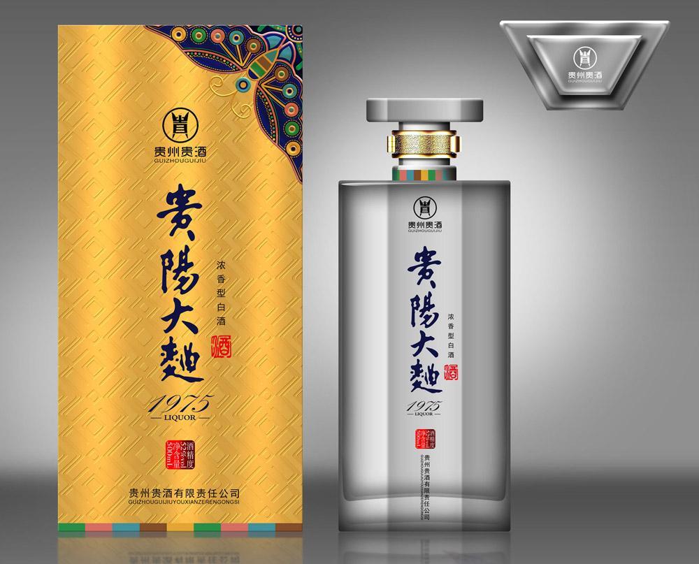 红颜系列白酒瓶包装设计展示