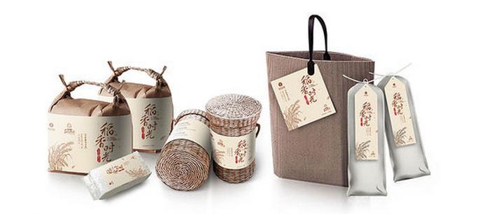 稻香大米的稻香時光系列包裝欣賞 - 包裝盒設計,高檔