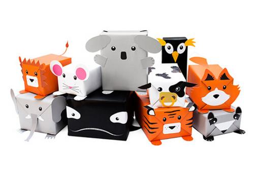 萌呆的小动物包装盒