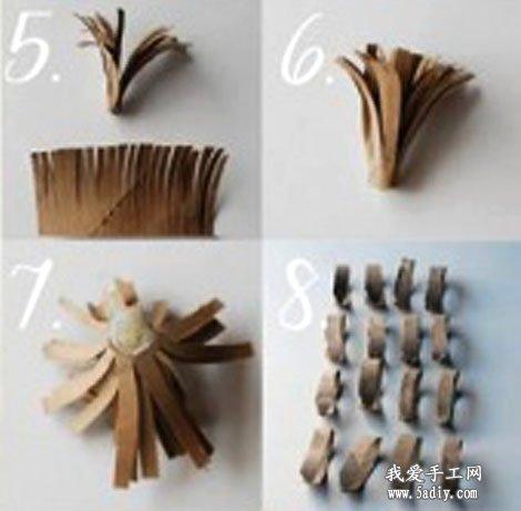 用牛皮纸手工diy制作的创意假花饰品图片教程