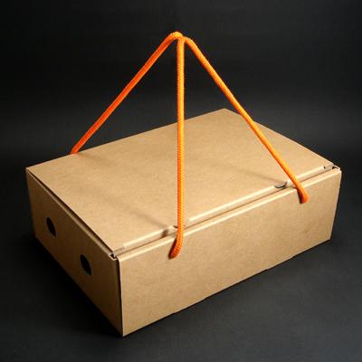 包装带废物利用编织篮子